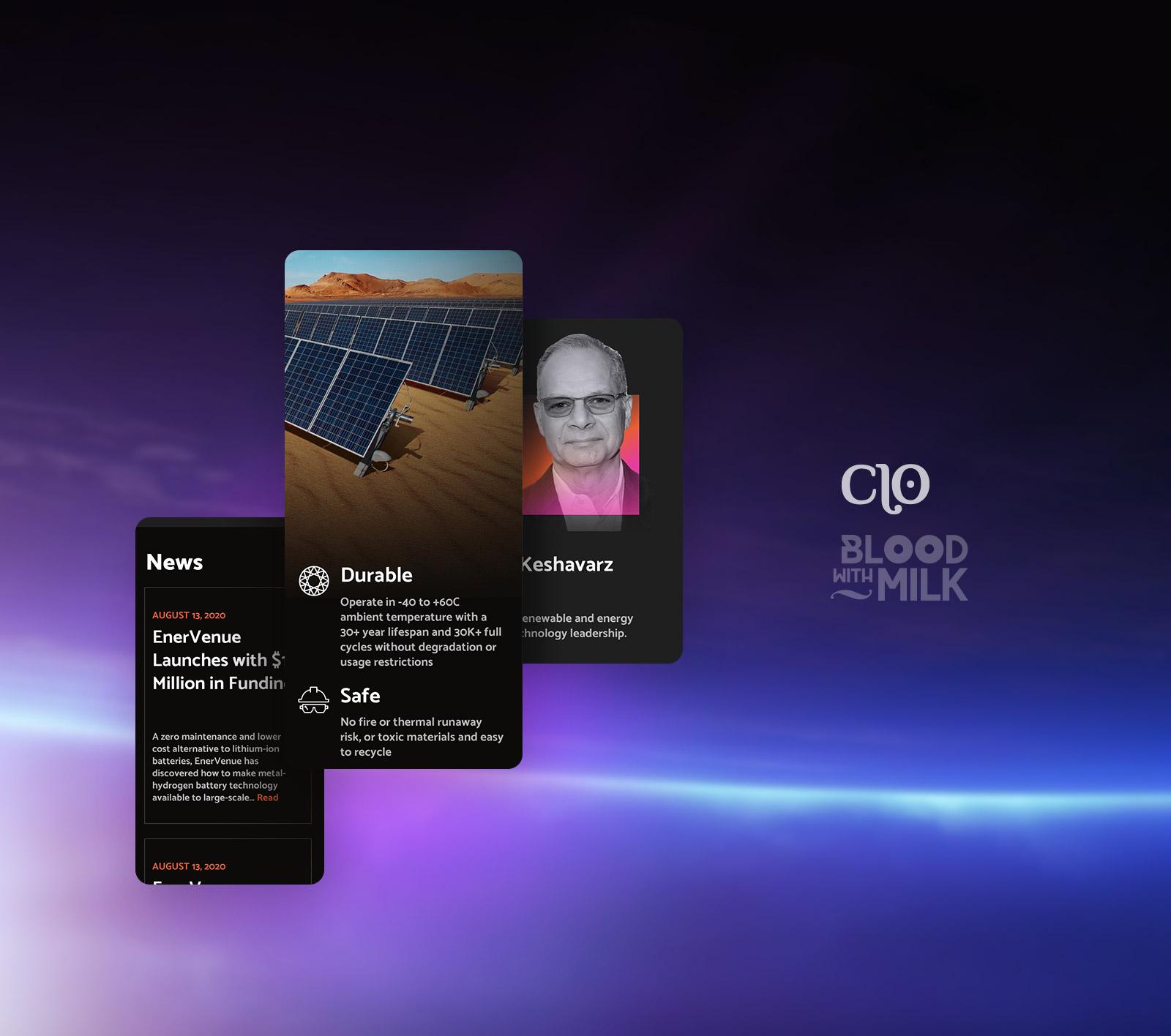 Корпоративный сайт производителя солнечных батарей
