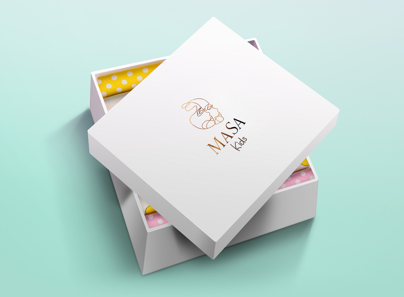 """Логотип и упаковка бренда детской одежды """"MaSa"""""""
